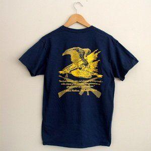 Gildan Mens Second Amendment Tee Navy Blue